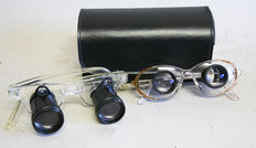 2 x binoculars glasses, German make, years 1960-1970 1 x with Eschenbach lenses. The 2nd is by Dr. Walsh of Kassel