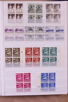 The Netherlands 1944/1975 – Well-progressed collection of blocks of 4