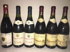 2x 1989 Chateauneuf-du-Pape Paul Bardet, 3x 1984 Chateauneuf-du-Pape Tour St Michel, 1985 Chateauneuf-du-Pape les Terres Blanches – 6 bottles in total