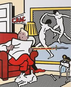 Roy Lichtenstein (after) - TinTin Reading