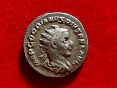 Roman Empire - Gordian III (238-244 A.D.) silver antoninianus (4,90 g, 21 mm.), Rome mint, 240 - 243 A.D. 1st. officina. AETERNITATI AVG