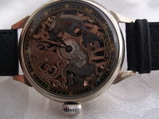 "36. Omega - ""Shark and Octopus"" men's skeleton marriage watch - between 1929 and 1930"