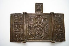 Bronze travel icon - Russia - 18th century