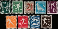 The Netherlands 1928/1929 - Olympic Games and Help stamp - NVPH 212/219 + 224