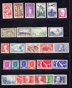 France 1907/1936 – Selection of 27 stamps