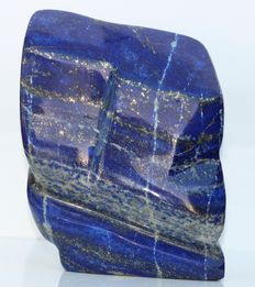 Polished natural Lapis Lazuli with Pyrites - 14 x 10 x 6cm - 1420gm