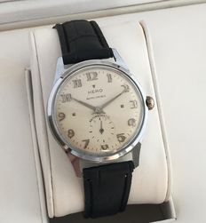 HERO ancre mens dress watch with sub second section -- 1950's -- no reserve price