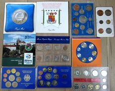 Europe - Lot of various coins ins sets 1940/1998 (10 items)