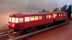 Märklin H0 - 3016/4018 - Railbus with supporting carriage of DB