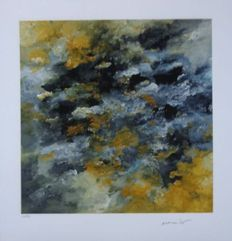Armando - Abstraction in ochre and grey