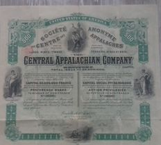 USA - Central Appalachian Company - Bruxelles 1892-coalmining Kentucky -DEKO