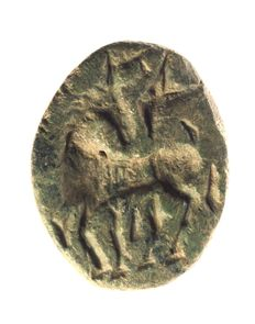 Stamp seal Onager/ wild donkey, 1100 - 900 B C, stone - h = 28.2mm