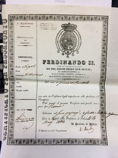 Passport from the Kingdom of the Two Sicilies