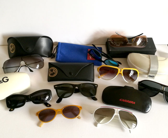 3d2a900947aa1 Nine pairs of sunglasses – Ray Ban – Armani – Chanel – Carrera ...