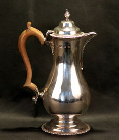 Silver tea pot, Lowe & Son, Chester, 1957