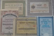 Lot of 5 different automotive securities - Volkswagen-Simca-Taxis Citroën-Autobus Belges-Dyle & Bacalan
