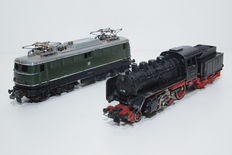 Trix Express H0 - 2234/24058 - Electro locomotive E40 and steam locomotive BR 24 by the DB