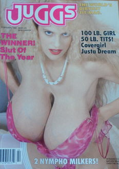 Fetish; Lot of 8 issues of Juggs The World's Dirtiest Tit Magazine - 1990/1995