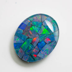 Opal Triplet - 10 x 8 x 2.48mm - 1.54 ct