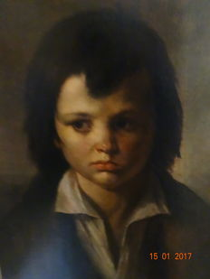 Unknown (early 20th century) - portrait of a boy.