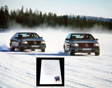1995 press kit from Mercedes-Benz first presentation of their new Electronic Stability Program (ESP) close to the Polar Circle