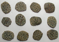 Italian Mint – Lot of 12 Swabian and Aragonese coins of from 12th century