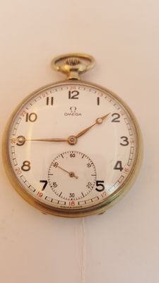 Omega Steel Pocket Watch , 1950-1960's