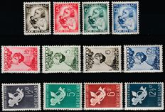 The Netherlands 1934/1936 – Children's stamps – NVPH 270/273, 279/282 and 289/292