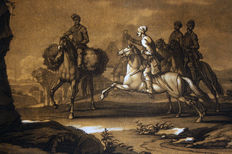 16  mezzotints by Christian Rugendas (1708-1781 ) after Georg Philipp Rugendas - Equestrian paintings - Augsburg, around 1730