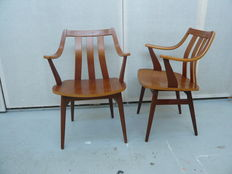 Unknown designer - 2 Plywood chairs, made of teak