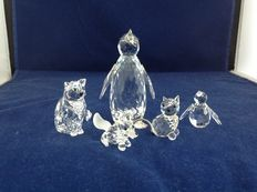 Swarovski - Penguin large - Penguin mini - Cat sitting - Fox prowling - Kitty mini