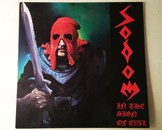 Sodom - In The Sign Of Evil - Vinyl - DG NR 001 - Record NM / Record Sleeve NM