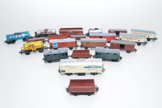 Trix Express etc. H0 - 20 different freight carriages, mostly by the DB