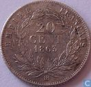 France 20 centimes 1863