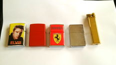 Lot of 5 lighters.
