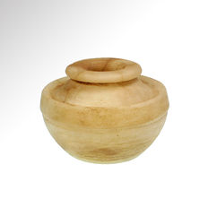 Near Eastern Alabaster Vessel, 8.4 cm body D