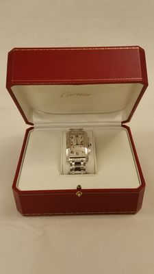 Cartier – Tank Americaine Chrono 2312 – White gold – Men's watch – 2001
