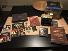 Fallout 4 Pip-Boy edition PS4 and Fallout Las Vegas PS3 limted edition booth with guides