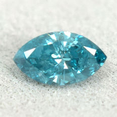 Ice blue diamond - 0.25 ct no reserve