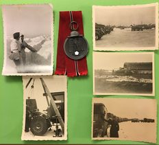 WW II in the East: Photos and medal - Winter battle in the East 1941/42