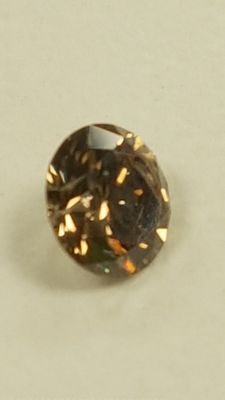 0.56 ct - Fancy Vivid Greenish Brown - VS2 - N0 minimum price