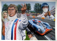 Tribute to Steve McQueen Le Mans Porsche #20 Movie 1971
