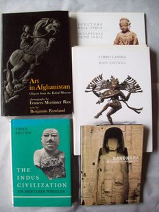 Books: Lot of 8 editions concerning art of Afghanistan (Gandhara) and India - 1971/2001