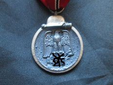 Third Reich medal - Winter Campaign in the East with manufacturer 19 WWII