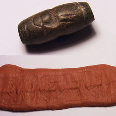 "Cylinder Seal made of stone Bactria ""deer"" - 26.8 x 12.6mm"