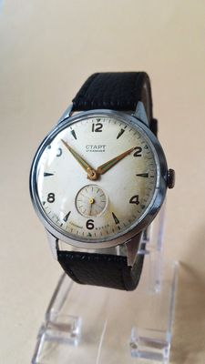 "CTAPT ""The Russian Omega"" – men's watch – 1950s."
