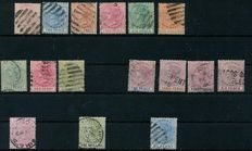Lagos 1874 – Queen Victoria, Selection on H-sheets Michel 1/6