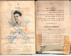 Personalia; Jewish Seaman's book issued by the early state of Israel - 1949