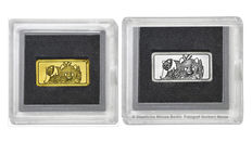 Germany - 1 gram of 999 fine gold / gold bar + 1 gram 999 silver bar - China Panda