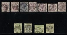 Great Britain 1883 - Part Lilac and green set with Additions